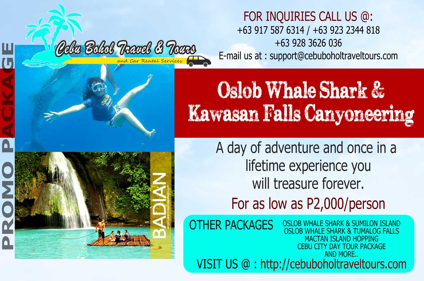 Kawasan Canyoneering and Oslbo Whale Watching