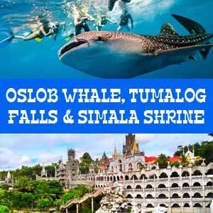 Oslob whale shark watching, Tumalog Falls & Simala