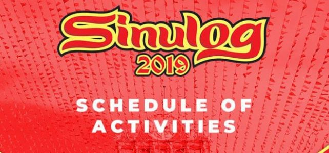 Sinulog 2019 Schedule of Events and Activities